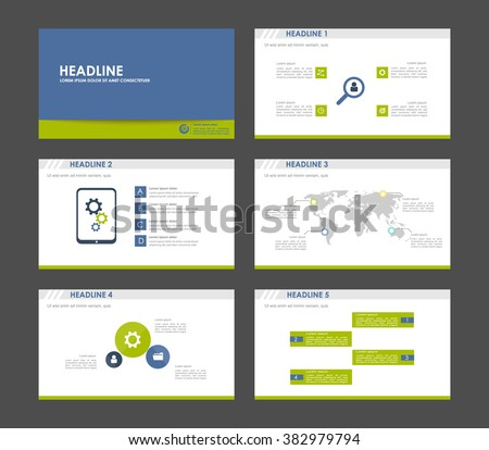 Infographics for leaflet,flyer,presentation,templates,web,marketing. Business infographics, blue grey and green version. - stock vector