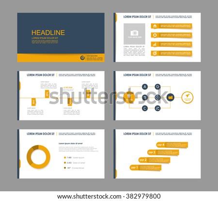 Infographics for leaflet,flyer,presentation,templates,web,marketing. Business infographics, blue grey and orange version. - stock vector