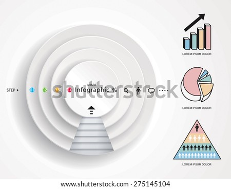 Infographics graphic, step presentations diagram, chart graphic.  - stock vector