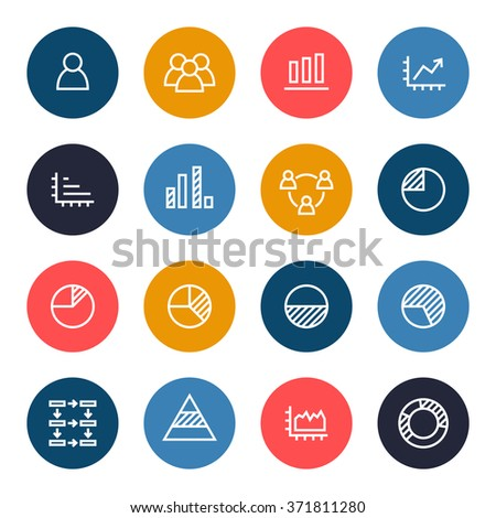 Infographics icon set - stock vector