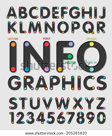 Infographics in the font. - stock vector