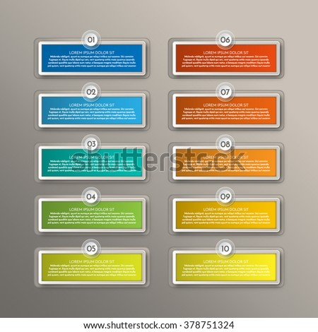 Infographics. Modern business steps to success charts and graphs options banner. Vector illustration modern design template - stock vector