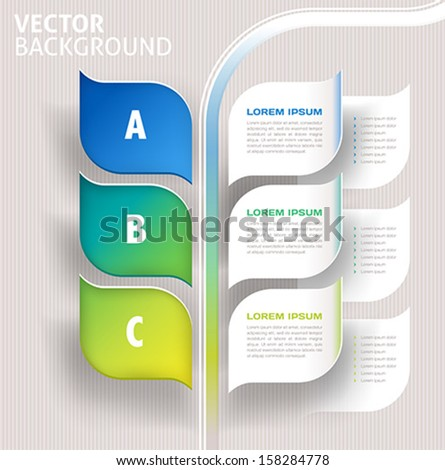 infographics nature leaves concept - vector - stock vector