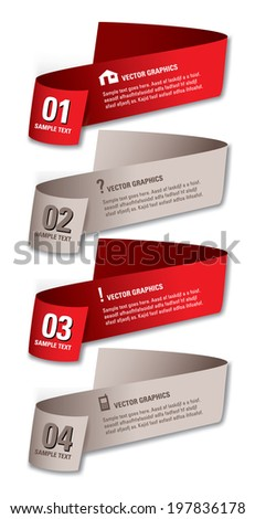 Infographics Numbered Banners. Vector Modern Illustration.