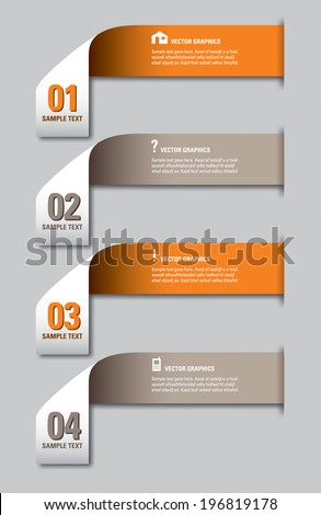 Infographics numbered options banners. Vector modern illustration. Eps10.