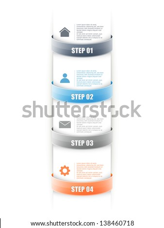 infographics options banner for workflow layout, number options, web design. eps10 illustration - stock vector