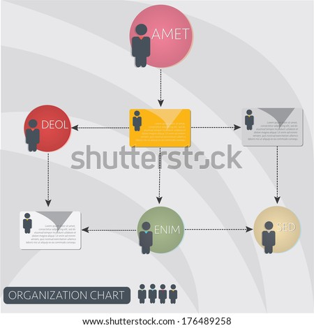 infographics organization flow chart - stock vector