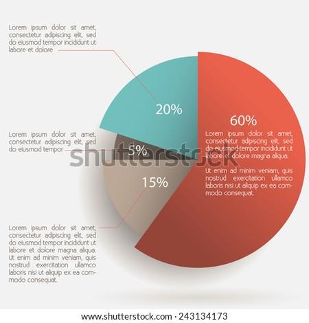 Infographics Pie Chart Design Vector Eps 10 Stock Vector Royalty