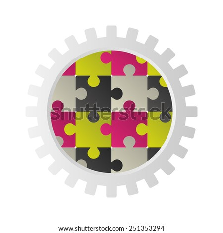 Infographics. Puzzle concept for business template. Vector - stock vector