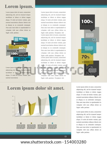 Infographics sample page. - stock vector