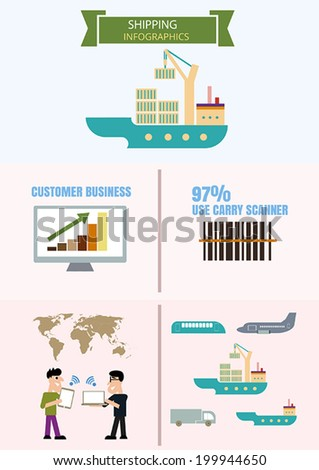 infographics shipping - stock vector