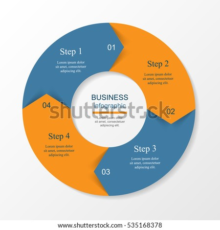 Vector Circle Elements Infographic Template Cycling Stock Vector
