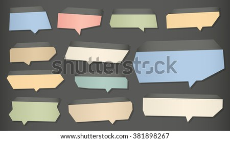 Infographics template, banners brochures flyers and speech bubble set