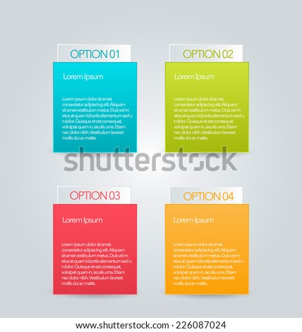 Infographics template for business, education, web design, banners, brochures, flyers. Vector illustration. - stock vector