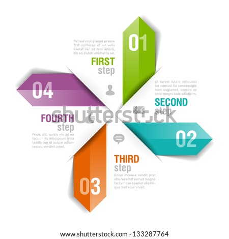 Infographics template. Fully editable vector. - stock vector