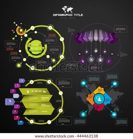 Infographics templates - stock vector