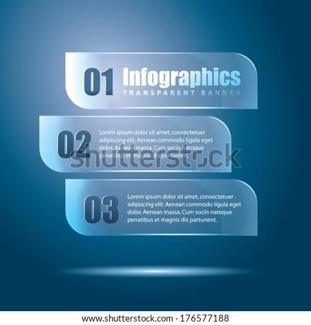 Infographics transparent banner - stock vector
