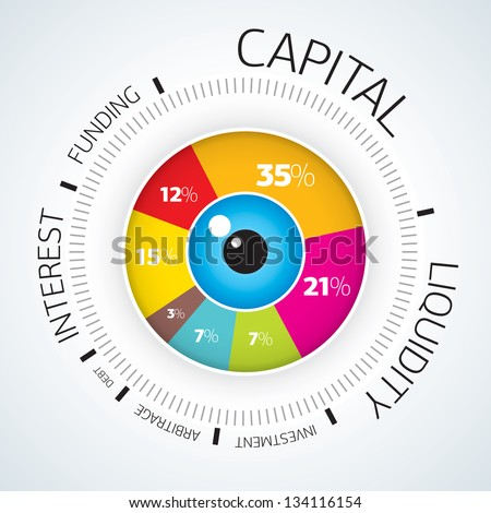 Infographics - Vector circle business concept diagram - stock vector