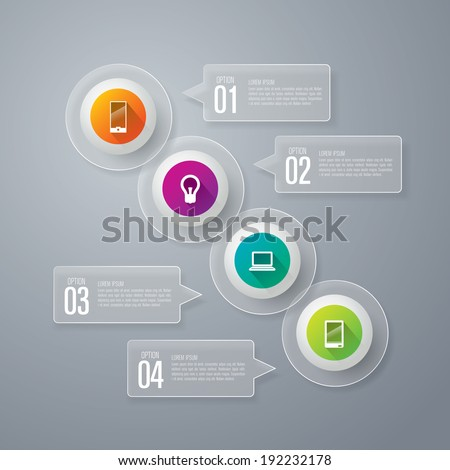 Infographics vector design template. Abstract 3D digital illustration Infographic. Vector illustration can be used for workflow layout, diagram, number options, web design.  - stock vector