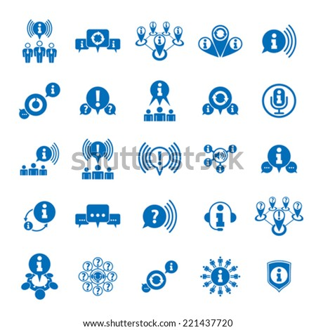 Information analyzing collecting and exchange theme icon set, analyze and solution, vector conceptual unusual symbols for your design. - stock vector