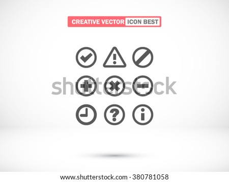 Information and notification icon, Information and notification icon eps 10,  - stock vector