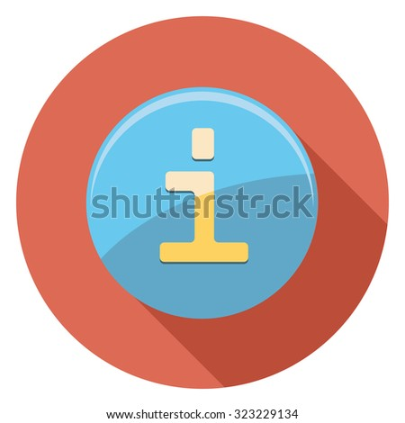 information button flat icon in circle - stock vector