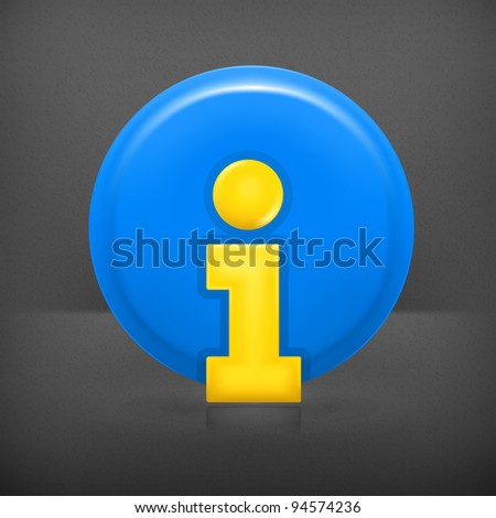 Information Icon, mesh - stock vector