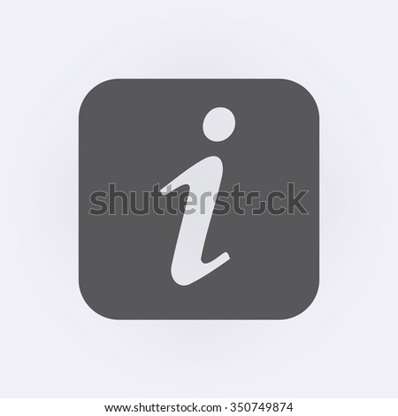Information icon . Vector illustration - stock vector