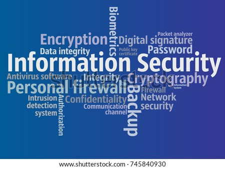 Information Security Tag Cloud Vector Templates Stock Vector ...