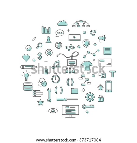 Information Technology Icons - stock vector