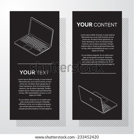 information technology minimal vector design - stock vector