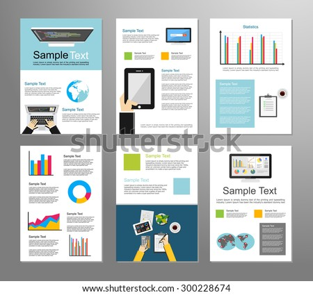 Information technology or business infographic elements. IT background. Business background. Mobile technology. Brochure template. Set of flyer design template. - stock vector