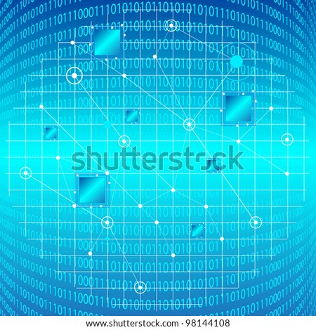 Information Technology Vector Background. Jpeg Version Also Available In Gallery. - stock vector