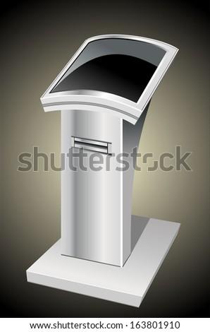 information terminal - stock vector