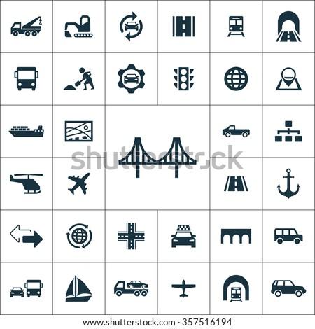 infrastructure Icons Vector set. infrastructure Icons Symbol set. infrastructure Icons Picture set. infrastructure Icon Image set. infrastructure Icons Shape set. infrastructure Icons Sign set - stock vector