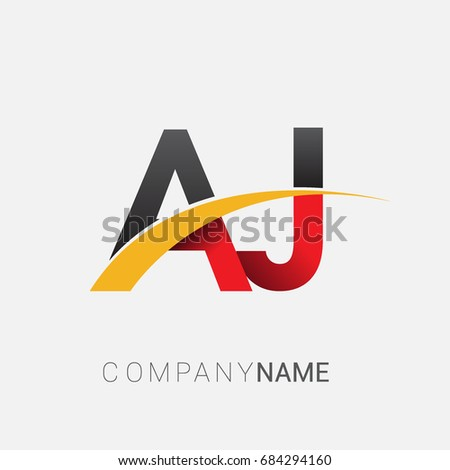 Initial Letter Aj Logotype Company Name Stock Photo Photo Vector