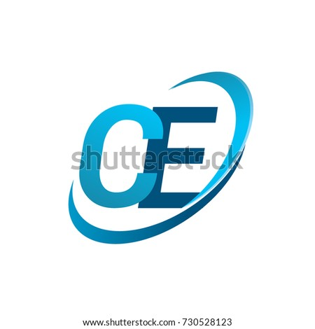 Initial Letter Ce Logotype Company Name Stock Photo Photo Vector