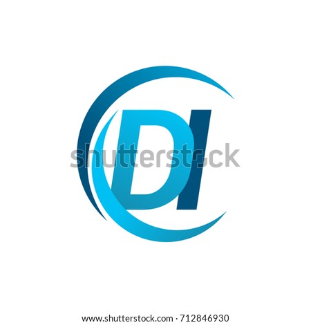 Initial Letter Di Logotype Company Name Stock Photo Photo Vector