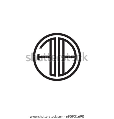 Initial Letter Fb Minimalist Line Art Stock Vector Hd Royalty Free