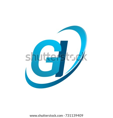Initial Letter Gi Logotype Company Name Stock Vector 731139409