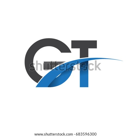 Initial Letter Gt Logotype Company Name Stock Vector 683596300