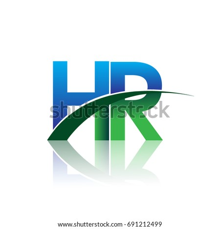 Initial Letter Hr Logotype Company Name Stock Vector 2018