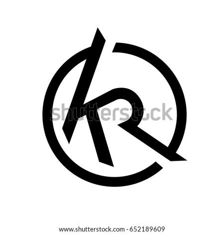 Initial Letter Kr Logo Vector