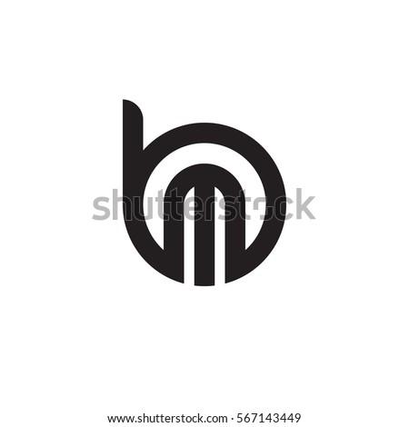 initial letter logo bm mb m のベクター画像素材 ロイヤリティフリー
