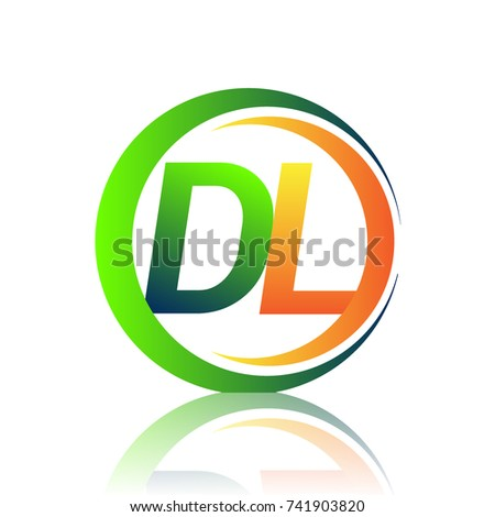 Initial Letter Logo Dl Company Name Stock Vector 2018 741903820