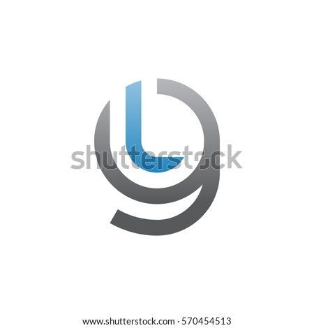 Initial letter logo gl lg l stock vector 2018 570454513 shutterstock initial letter logo gl lg l inside g rounded lowercase blue gray spiritdancerdesigns Gallery