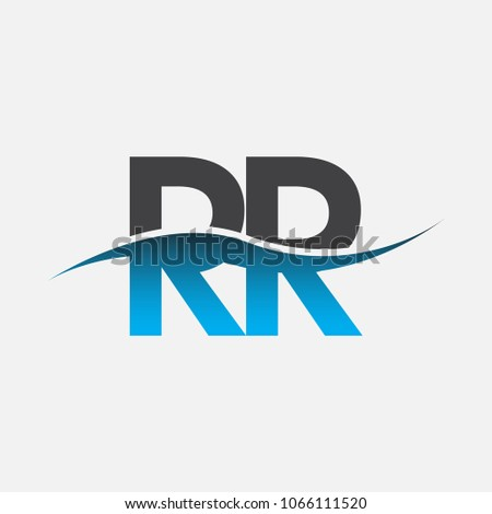 Initial Letter Logo Rr Company Name Stock Vector 1066111520