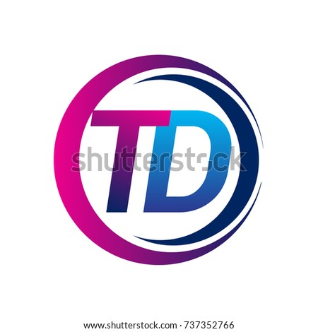 Initial Letter Logo Td Company Name Stock Vector 737352766