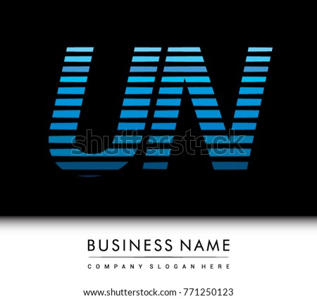 Letter un logo stock images royalty free images vectors initial letter logo un colored blue with striped compotition vector logo design template elements for spiritdancerdesigns Choice Image