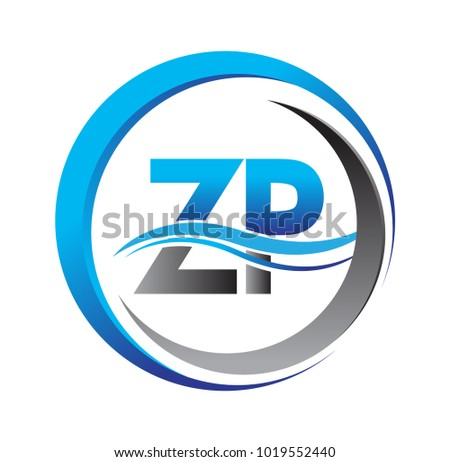 Initial Letter Logo Zp Company Name Stock Vector 1019552440